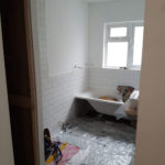Renovated bathroom Dublin - WIP